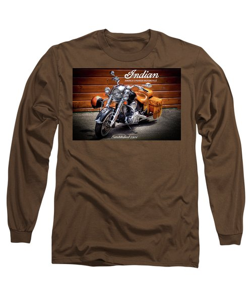 The Indian Motorcycle Long Sleeve T-Shirt by David Patterson