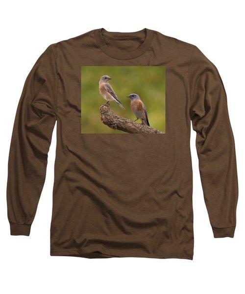 Western Bluebird Long Sleeve T-Shirt by Doug Herr