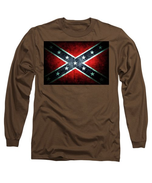 Long Sleeve T-Shirt featuring the photograph Confederate Flag by Les Cunliffe