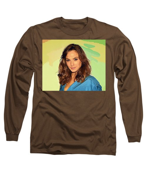 Gal Gadot Art Long Sleeve T-Shirt by Best Actors