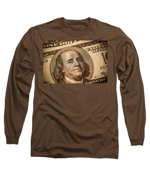 Long Sleeve T-Shirt featuring the photograph Benjamin Franklin by Les Cunliffe