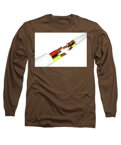 Electrical Cable Cut Long Sleeve T-Shirt