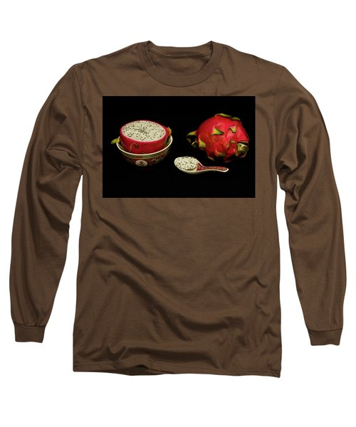 Long Sleeve T-Shirt featuring the photograph Pink Dragon Fruit  by David French