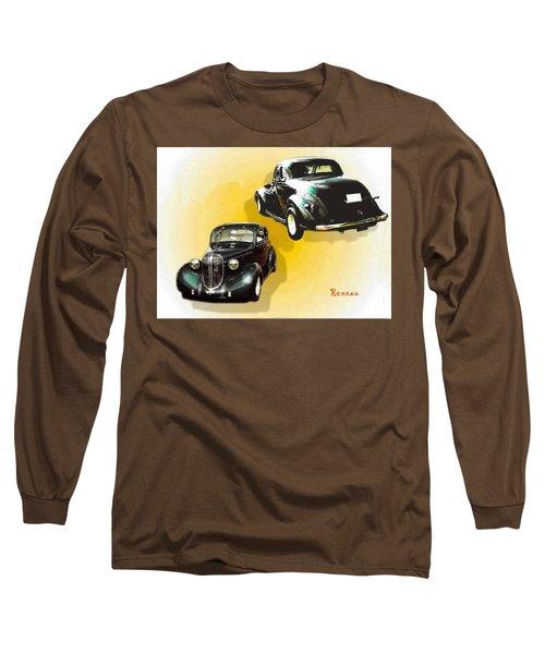 '38 Plymouth Long Sleeve T-Shirt by Sadie Reneau