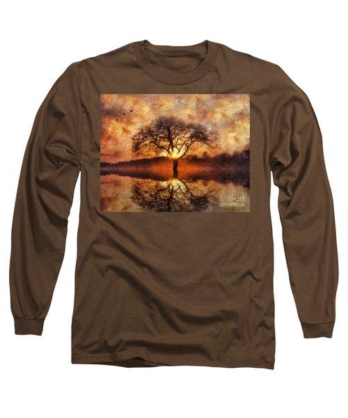 Lone Tree Long Sleeve T-Shirt by Ian Mitchell
