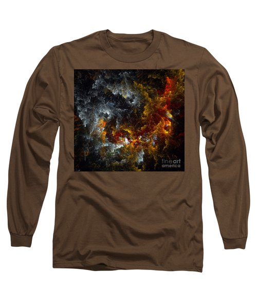 Multicolored Abstract Figures Long Sleeve T-Shirt