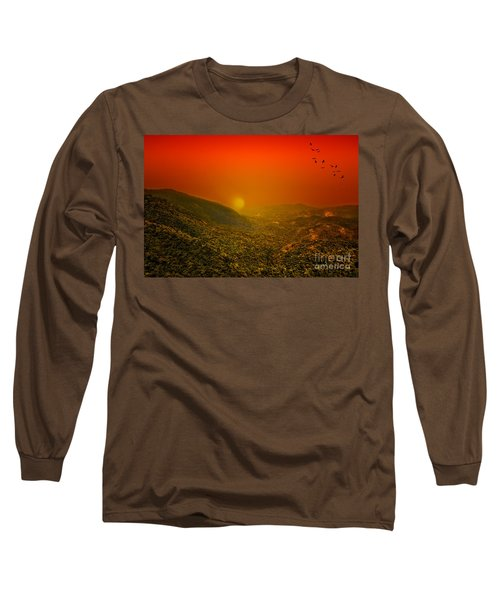 Sunset Long Sleeve T-Shirt by Charuhas Images
