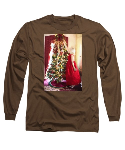 Vintage Val Home For The Holidays Long Sleeve T-Shirt by Jill Wellington