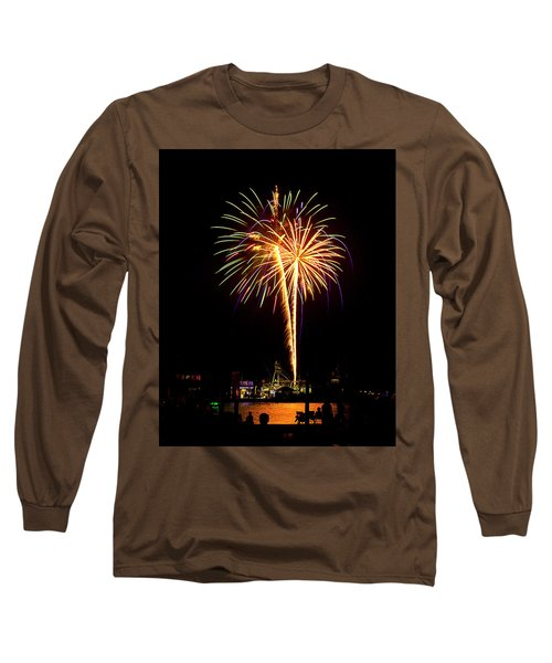 4th Of July Fireworks Long Sleeve T-Shirt by Bill Barber