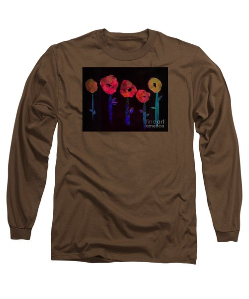 5 Flowers Long Sleeve T-Shirt