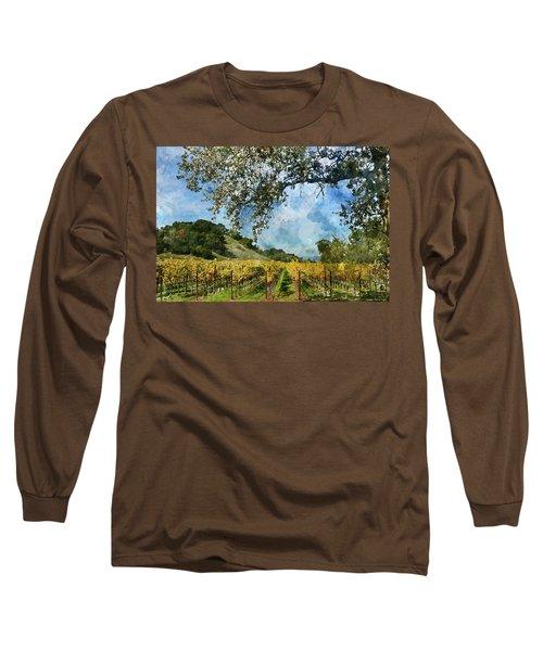 Vineyard In Napa Valley California Long Sleeve T-Shirt