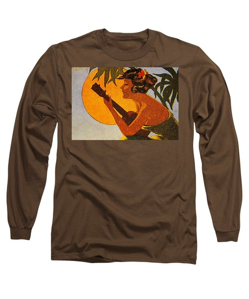 Vintage Hawaiian Art Long Sleeve T-Shirt by Hawaiian Legacy Archive - Printscapes