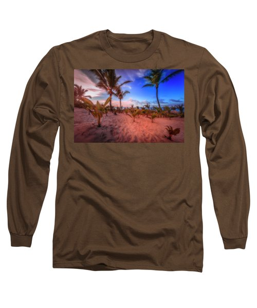 Long Sleeve T-Shirt featuring the photograph Dominicana Beach by Peter Lakomy