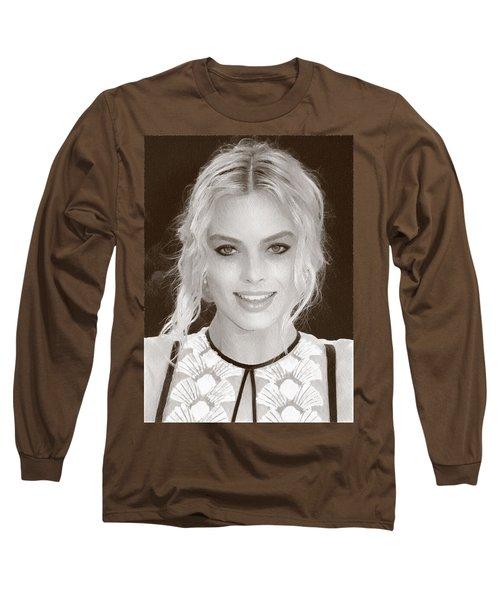Actress Margot Robbie Long Sleeve T-Shirt