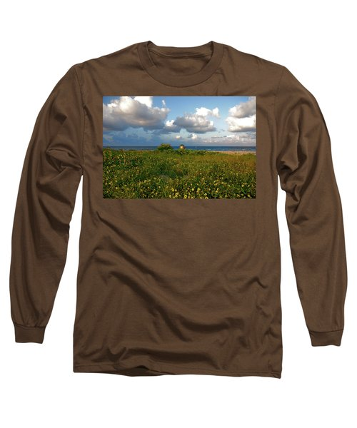 Long Sleeve T-Shirt featuring the photograph 8- Sunflowers In Paradise by Joseph Keane