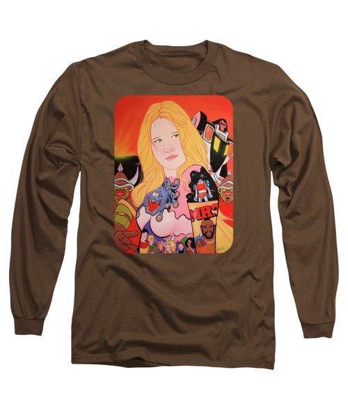 80s Girl 5  Long Sleeve T-Shirt by Jason Wright