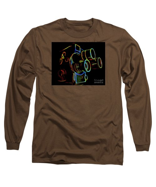 8mm In Neon Long Sleeve T-Shirt by Mark Miller