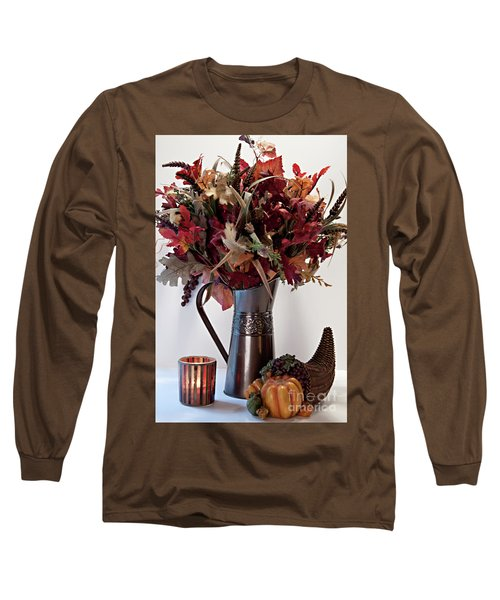 A Autumn Day Long Sleeve T-Shirt by Sherry Hallemeier