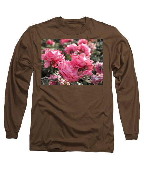A Bunch Of Pink Long Sleeve T-Shirt by Laurel Powell