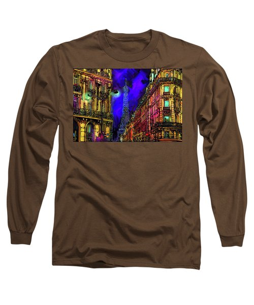 A Corner In Paris Long Sleeve T-Shirt by DC Langer