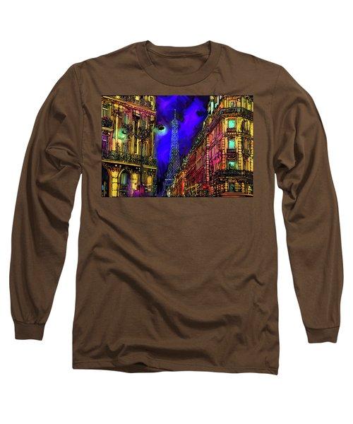 A Corner In Paris Long Sleeve T-Shirt