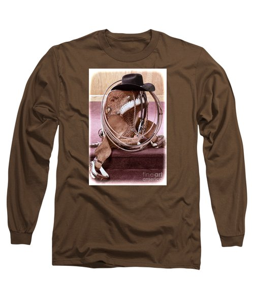 Long Sleeve T-Shirt featuring the photograph A Cowboy's Gear by Lawrence Burry