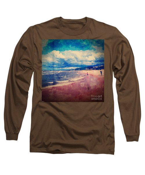 Long Sleeve T-Shirt featuring the photograph A Day At The Beach by Phil Perkins