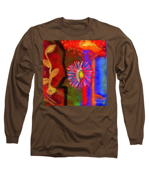 A Flower For You Long Sleeve T-Shirt by Angela L Walker