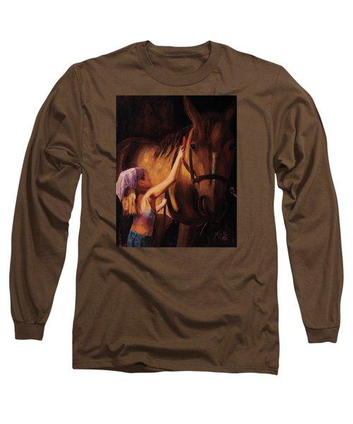 A Girls First Love Long Sleeve T-Shirt by Billie Colson