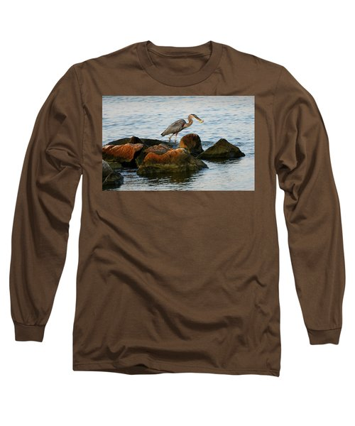 A Great Blue Heron Day Long Sleeve T-Shirt