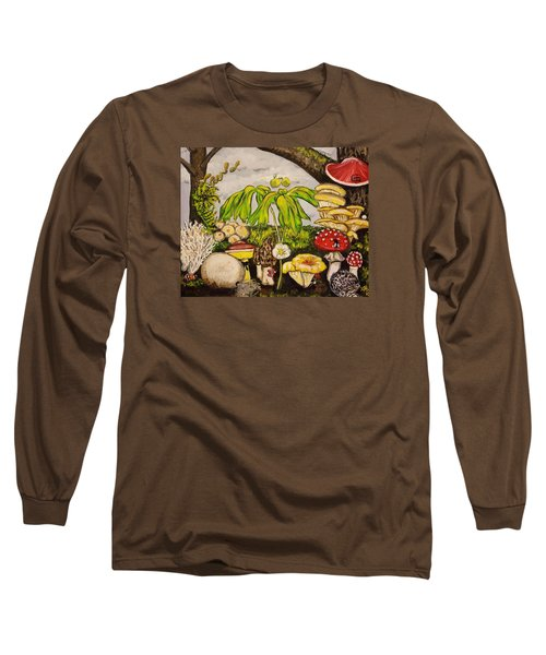 A Mushroom Story Long Sleeve T-Shirt by Alexandria Weaselwise Busen