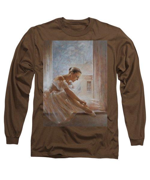 A New Day Ballerina Dance Long Sleeve T-Shirt by Vali Irina Ciobanu