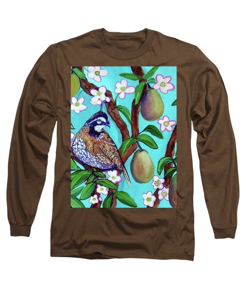 A Partridge In A  Blooming Pear Tree Long Sleeve T-Shirt