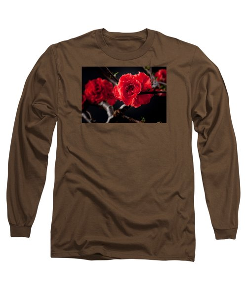 A Red Flower Long Sleeve T-Shirt by Catherine Lau