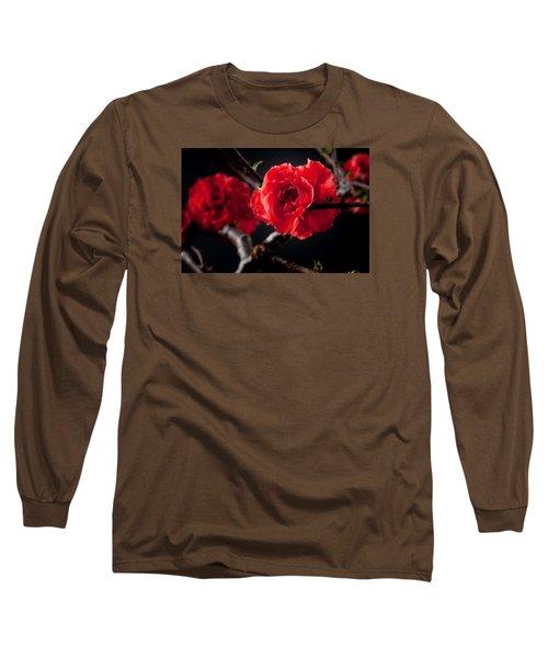 A Red Flower Long Sleeve T-Shirt
