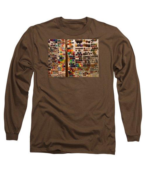 A Riot Of Buttons Long Sleeve T-Shirt