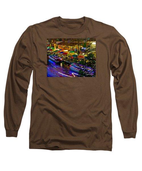 A San Antonio River Walk Christmas Long Sleeve T-Shirt