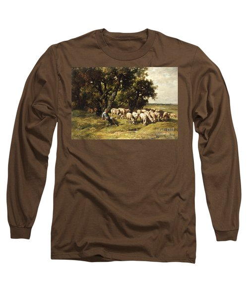 A Shepherd And His Flock Long Sleeve T-Shirt