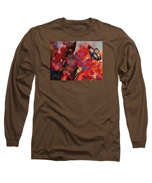 A Very Fairy Tale Of Two Butterflies In Pearlesque Long Sleeve T-Shirt