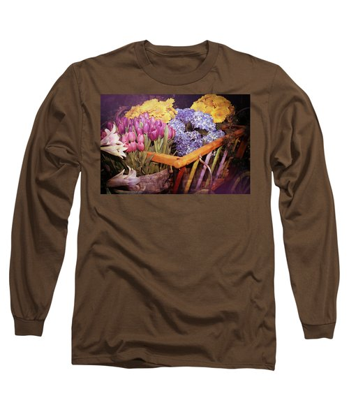 A Wagon Full Of Spring Long Sleeve T-Shirt by Patrice Zinck