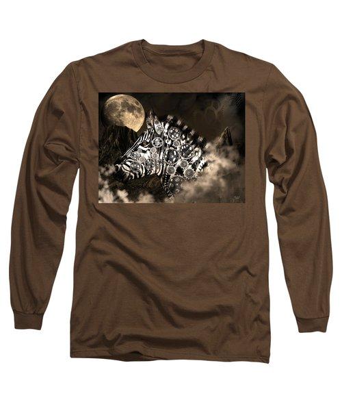A Wild Steampunk Zebra Long Sleeve T-Shirt