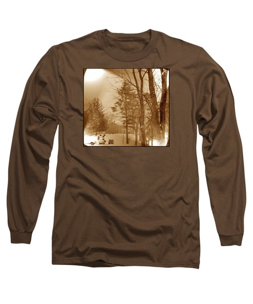Long Sleeve T-Shirt featuring the photograph A Winter Scene by Skyler Tipton