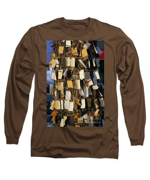 A Wishing Tree With Many Requests Long Sleeve T-Shirt by Yali Shi
