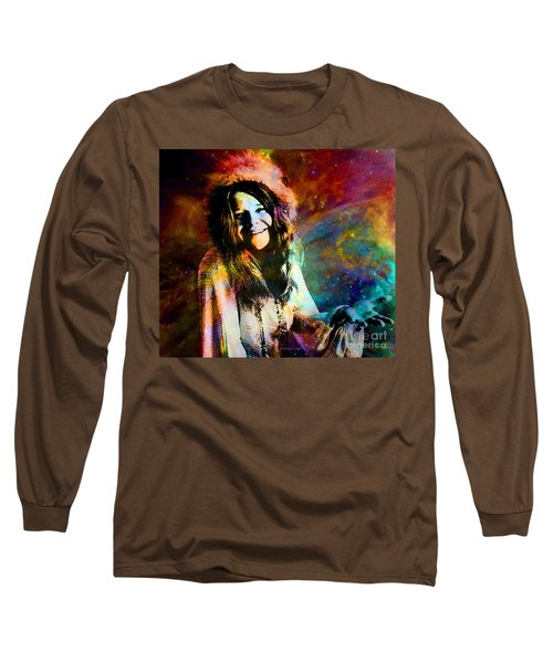 A Woman Of 1970 Rock And Roll Long Sleeve T-Shirt by Annie Zeno