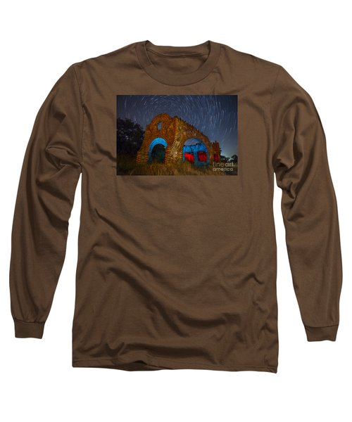 Abandoned Outlaw Gas Station Long Sleeve T-Shirt by Keith Kapple