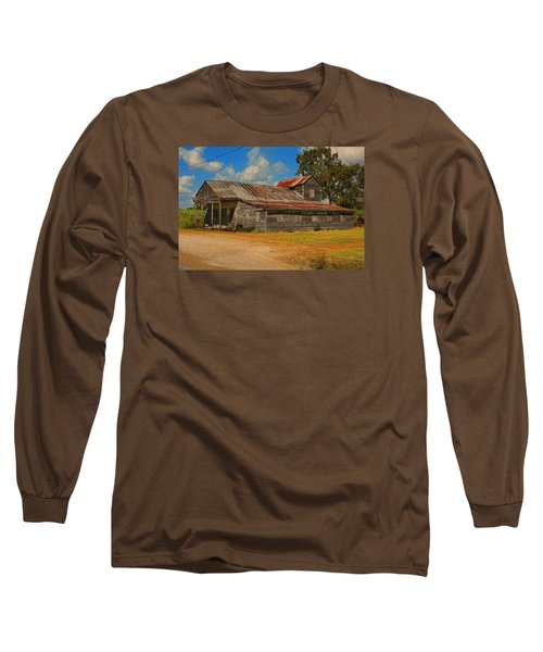 Abandoned Store Long Sleeve T-Shirt by Ronald Olivier
