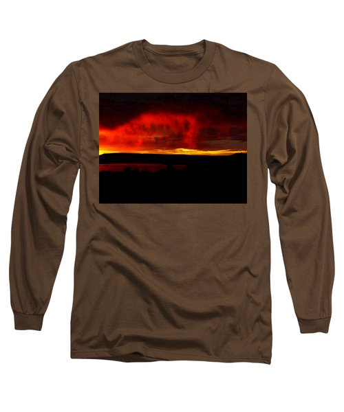 Long Sleeve T-Shirt featuring the painting Abiquiu Reservoir  by Dennis Ciscel