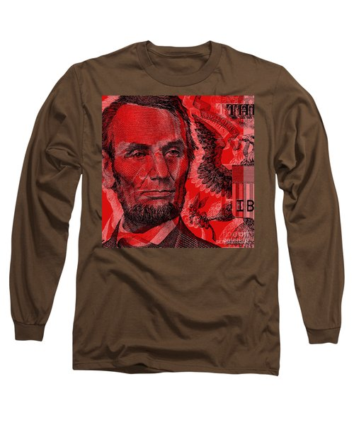 Abraham Lincoln Pop Art Long Sleeve T-Shirt
