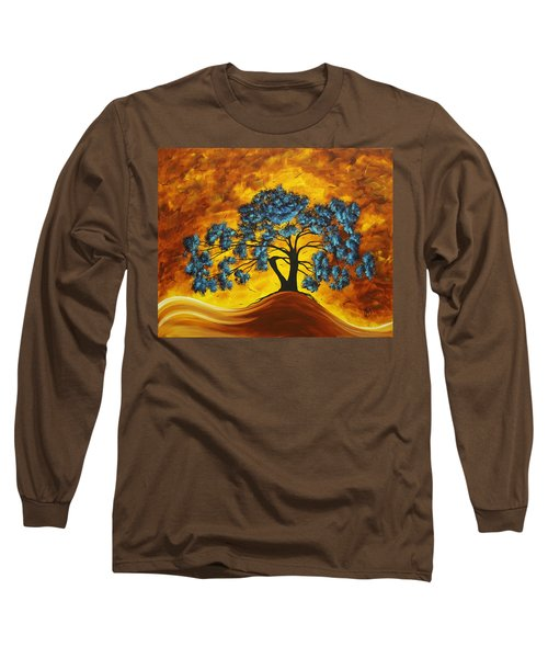 Abstract Art Original Landscape Painting Dreaming In Color By Madartmadart Long Sleeve T-Shirt