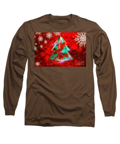 Abstract Christmas Bright Long Sleeve T-Shirt